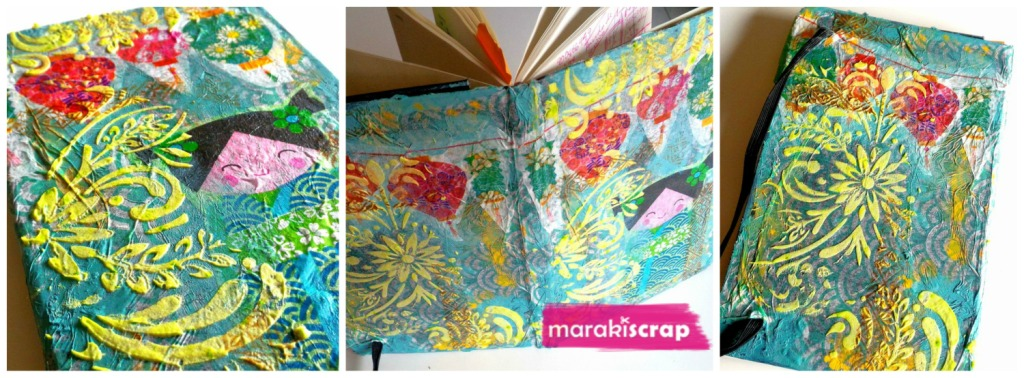 Tutorial libreta mixed media con decoupage, con Silvia