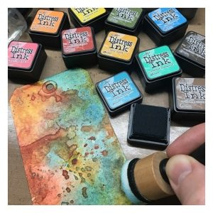tintas mini distress ink pad