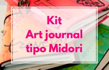 kit art journal tipo midori