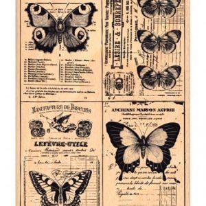 Sello de Madera Papillons