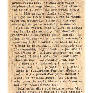 Sello de Madera Texte GrungeFlorilèges