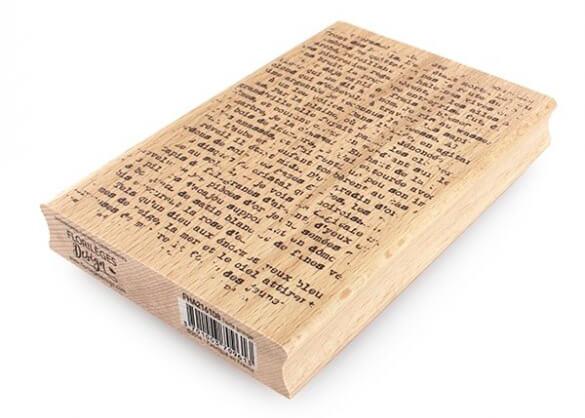 Sello de Madera Texte