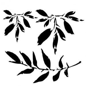 Stencil Textura Leaves