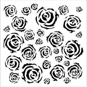 Stencil Textura Rosas