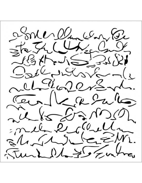 Stencil Textura Script