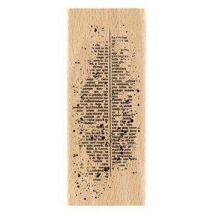 sello de madera texte mouchete