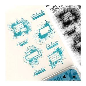 sello acrilico etiquettes tachees