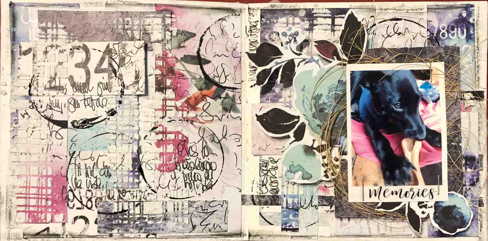 Haz tu página de art journal memories