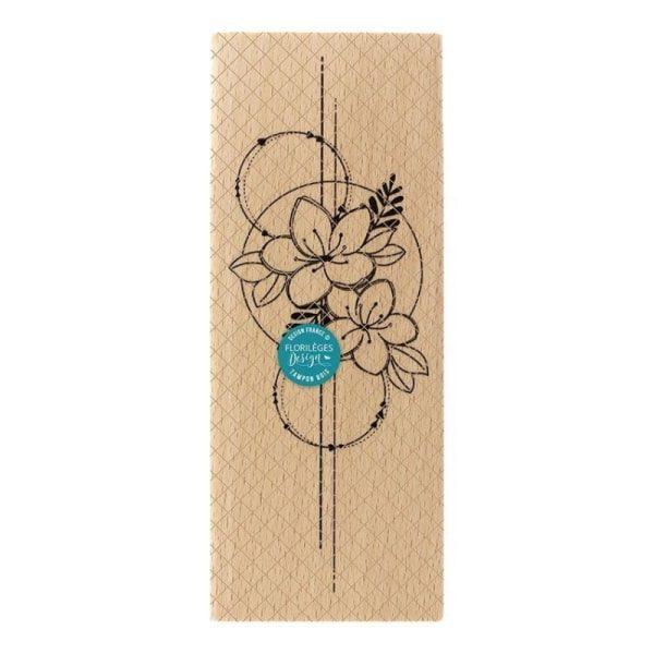 Sello de Madera composition de fleurs