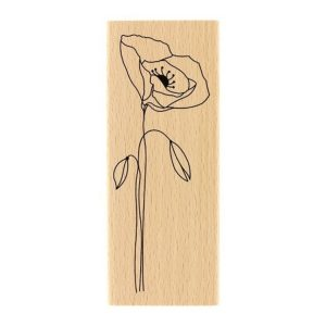 Sello de Madera long Coquelicot