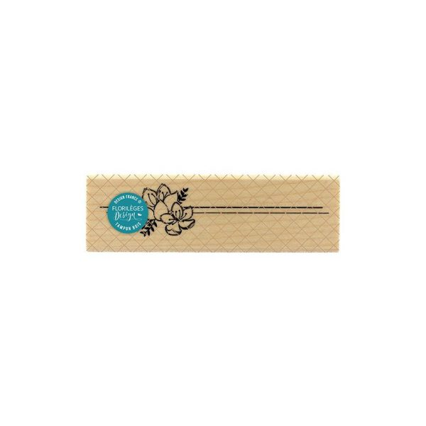 Sello de madera lignes florales