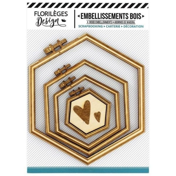 Kit de chipboards bastidores hexagonales