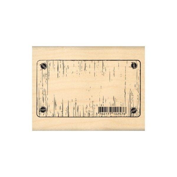 Sello-madera-Etiqueta-metálica