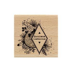 Sello madera Instantes naturales