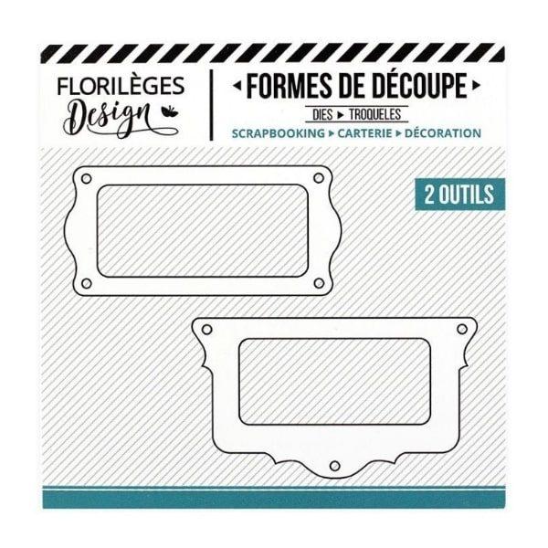 Troquel Porta etiquetas doble