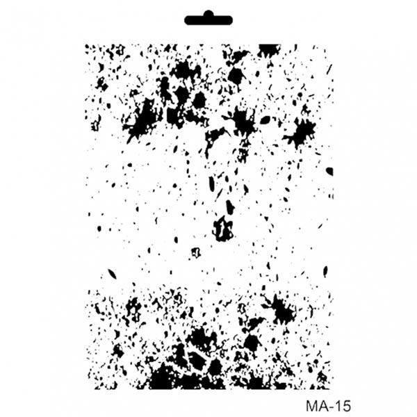 Stencil Cadence mix media collection MA15   MarakiScrap.com