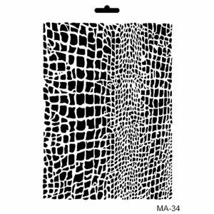 Stencil Cadence mix media collection MA34 | MarakiScrap.com