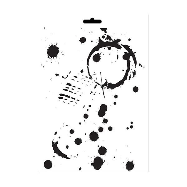 Stencil Cadence mix media collection MA72 | MarakiScrap.com