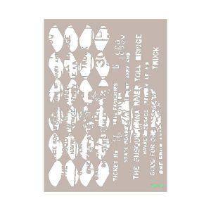 Stencil Cadence mix media collection MA73 | MarakiScrap.com