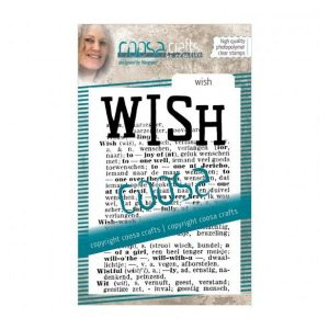 Sello de fondo acrilico wish coosa crafts