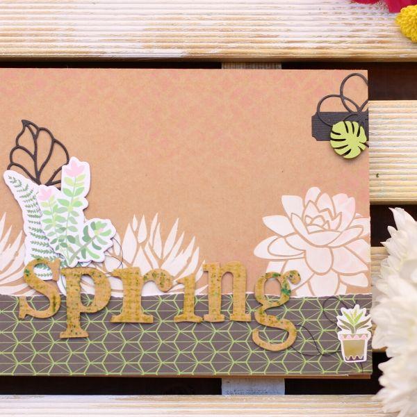 Talleres de scrapbooking online mini album spring