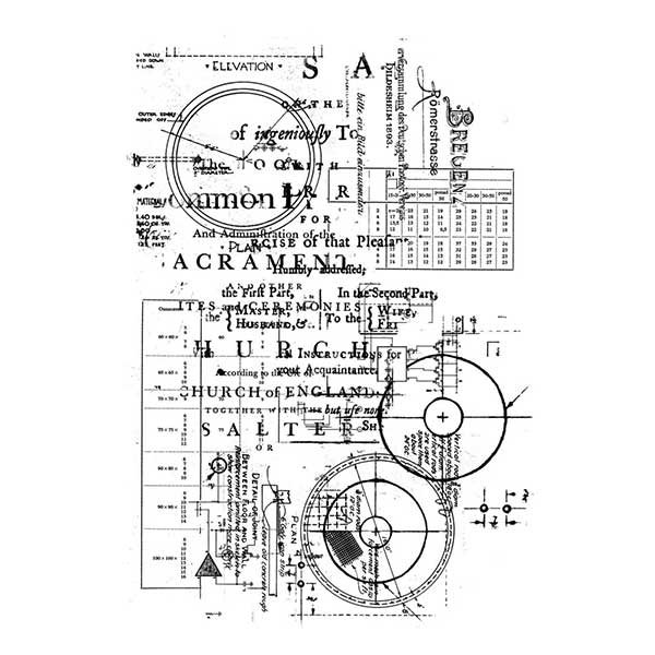 Sello acrílico A6 13 Arts Blueprint | MarakiScrap.com