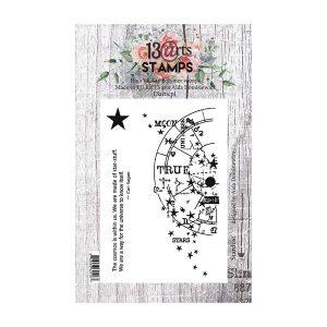 Sello acrílico A7 13 Arts Stardust | MarakiScrap.com