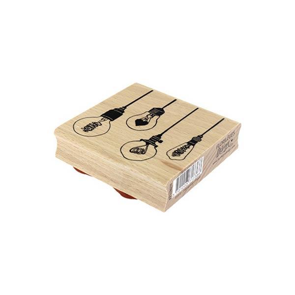 Sello de madera Florilèges Design modelo Et la lumiere fut | MarakiScrap.com