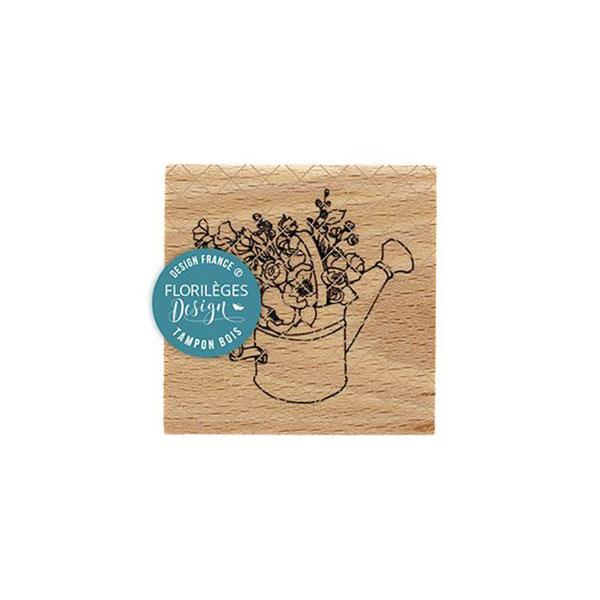 Sello de madera Florilèges Design modelo Arrosoir fleuri | MarakiScrap.com