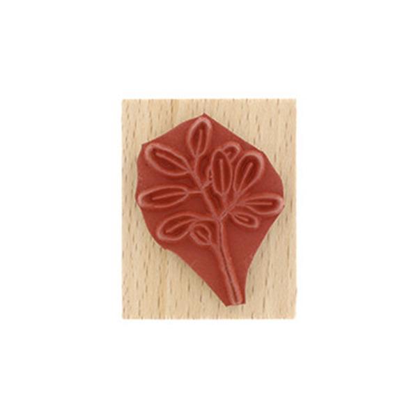 Sello de madera Florilèges Design modelo Bout de feuillage | MarakiScrap.com
