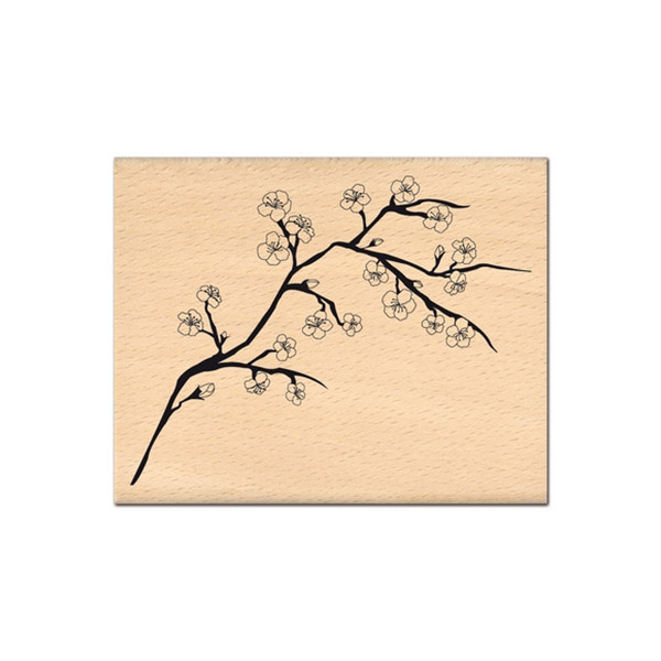 Sello de madera Florilèges Design modelo Branche de cerisier | MarakiScrap.com