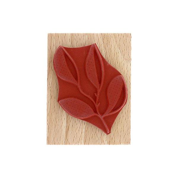 Sello de madera Florileges Design Branche quatre feuilles   MarakiScrap.com
