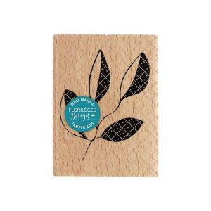 Sello de madera Florileges Design Branche quatre feuilles | MarakiScrap.com