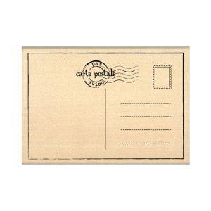 Sello de madera Florilèges Design modelo Carte postale | MarakiScrap.com
