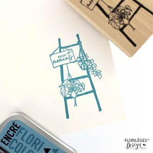 Sello de madera Florilèges Design modelo Échelle déco | MarakiScrap.com