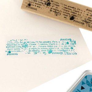 Sello de madera Florilèges Design modelo Écriture stylée | MarakiScrap.com