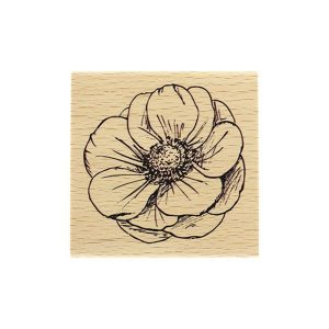 Sello de madera Florileges Design Fleur Esquissé | MarakiScrap.com