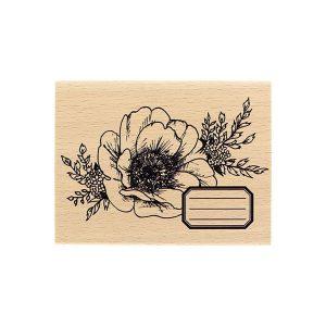 Sello de madera Florilèges Design modelo Fleur journaling | MarakiScrap.com