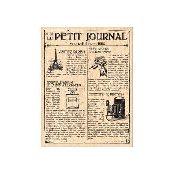 Sello de madera Florilèges Design modelo Le petit journal | MarakiScrap.com