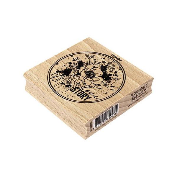 Sello de madera Florilèges Design modelo Notre love story   MarakiScrap.com