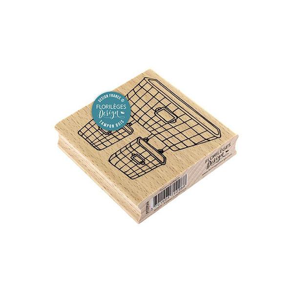 Sello de madera Florilèges Design modelo Paniers grillagés | MarakiScrap.com