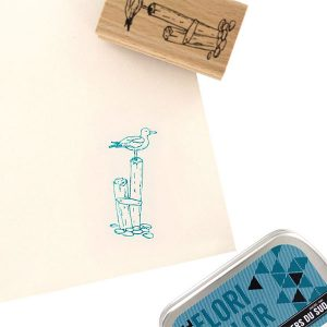 Sello de madera Florilèges Design modelo Une mouette | MarakiScrap.com