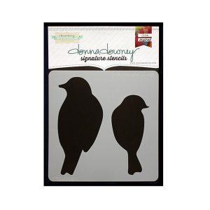 Stencil Donna Downey Birds silhouette | MarakiScrap.com