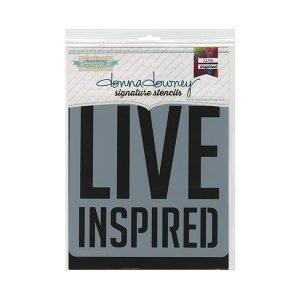 Stencil Donna Downey Live inspired | MarakiScrap.com