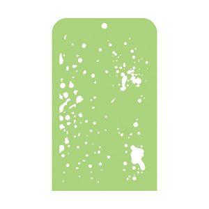Stencil Kaisercraft 3.5 X 5.75 Speckles | MarakiScrap.com