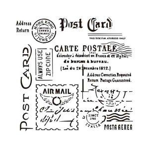 Stencil mixed media 13arts modelo Carte postale | MarakiScrap.com