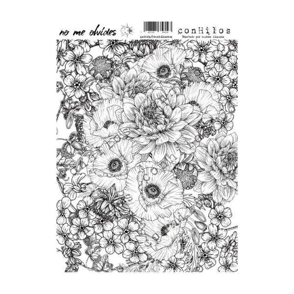 Colección nomeolvides conhilos sticker transparente flores