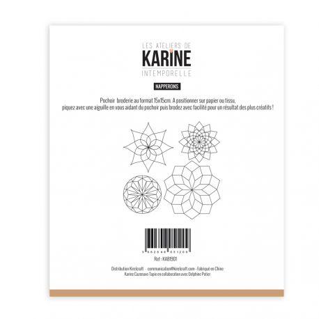 Plantilla de bordado Napperons Intemporelle Les ateliers de Karine | Marakiscrap.com
