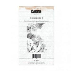 Sello acrílico Feuilles en detail Les ateliers de Karine | Marakiscrap.com