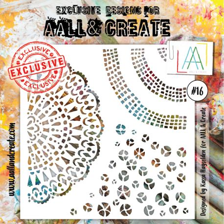 Stencil Aall and create 16